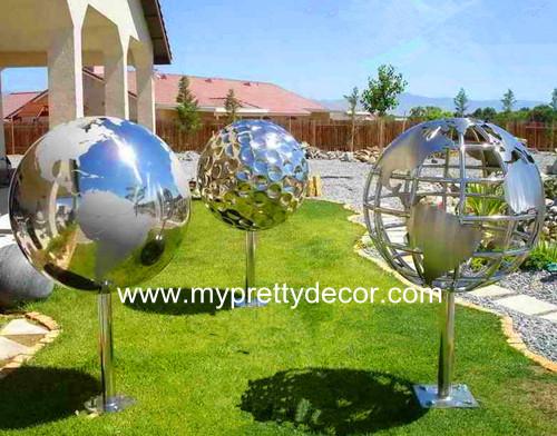 Hollow Globe Sphere Sculpture
